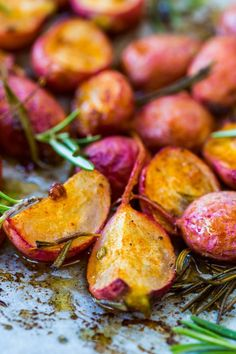 Roasted, Spiced Radishes that are FULL OF FLAVOR and very easy to make. Super tasty side dish.