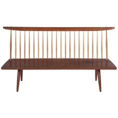 George Nakashima Bench | From a unique collection of antique and modern settees at http://www.1stdibs.com/furniture/seating/settees/