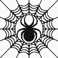 Foliate Spider In Cobweb Clip Art … Halloween Templates, Halloween Clipart, Halloween Images, Halloween Cards, Fall Halloween, Halloween Decorations, Kirigami, Paper Cutting, Silhouette Cameo