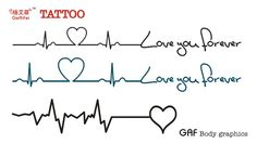 heart beat tattoo - Google Search