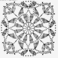Site is undergoing maintenance Crochet Square Patterns, Crochet Blocks, Crochet Diagram, Crochet Chart, Crochet Squares, Love Crochet, Crochet Granny, Crochet Motif, Irish Crochet