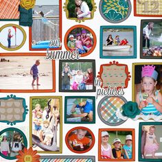 our summer in pictures layout made by Stacey using Our Story digital scrapbook kit by Simple Girl Scraps