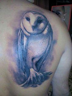Roberto's Barn Owl Tattoo