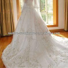 BG1 Custom Ivory Satin Gold Embroidered Halter Wedding Dress 2013