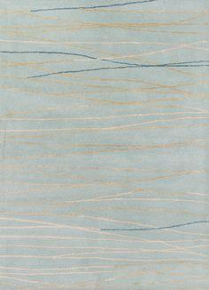 Baroque Oslo - Mineral Blue & Ecru Olive Rug