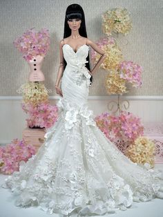 New Dress for sell EFDD - bride shoes wedding Barbie Bridal, Barbie Wedding Dress, Barbie Gowns, Barbie Dress, Barbie Clothes, Wedding Dresses, Bridal Gowns, Barbie Fashion Royalty, Fashion Dolls