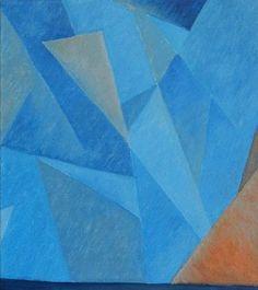 Картина, Голубая комната, канва масло
