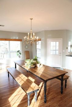 Fixer Upper Episode Ten - Magnolia Homes-- love this table and light fixture