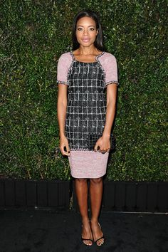 Naomie Harris at the Chanel and Charles Finch pre-Oscar dinner on March 1, 2014