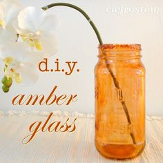 Use food coloring and Mod Podge to tint any glass the color you want - this tutorial is amazing!