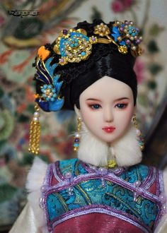 Hoàng quý phi Chinese Fashion, Chinese Style, Chinese Art, Chinese Traditional Costume, Chinese Dolls, Fan Bingbing, Asian Doll, Chinese Clothing, Period Costumes