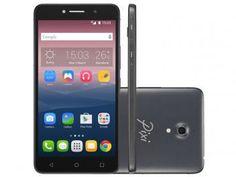 """Smartphone Alcatel PIXI4 6 Preto 8GB Dual Chip 3G - Câm 13MP + Selfie 8MP Flash Tela 6"""" Proc Quad Core"""