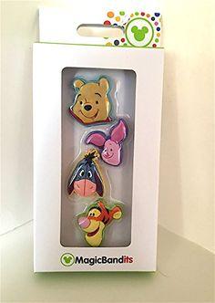 Disney Parks Winnie the Pooh Magic Band Bandits Set of 4 Charms NEW Liz