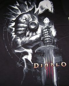 DIABLO III TYRAEL T-SHIRT S SMALL SM NEW ARCHANGEL OF JUSTICE SIDE BLIZZARD TEE