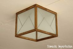 DIY Mixed Material Light Fixture (for less than $20!)