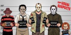 Jason também leva a melhor na quantidade de sequências: o vilão apareceu em 12 filmes, seguido de Freddy Krueger, Michael Myers e Hellraiser, com oito filmes cada.