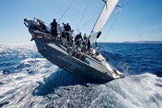 boatporn:  sailseaplymouth:  Robertissma, ex-Ran 72 the judel Vrolijk designed mini-maxi.  Super.