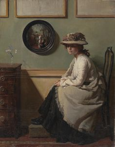Sir William Open, the Mirror, 1900, oil on canvas