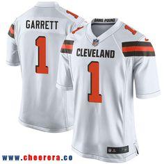 a57b2377c Nike Cleveland Browns  1 Myles Garrett White 2017 Draft Pick Elite Jersey