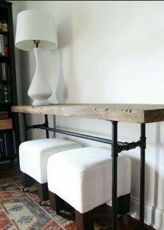 Narrow Console Table, Reclaimed Wood Table, Accent Table, Long Sofa Table,  Entry Hall Table, Entryway Table, Farmhouse, Industrial Design | Pinterest  | Sofa ...