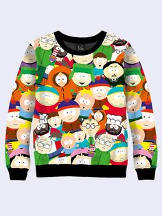 Men's male youthful 3D print sweatshirt Heroes of the show series South Park Long sleeve Made in Ukraine by Vilno on Etsy