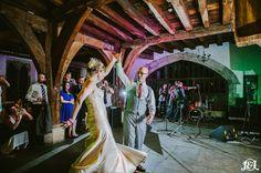 First Dance. Wedding Dance. Merchant Adventurers' Hall.  Retro. Vintage. Quirky. Top Hat. York Wedding. Yorkshire Wedding Photography www.jamesandlianne.com