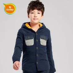 >> Click to Buy << DOOLLEY Boy Fashion Jacket Autumn Winter Clothes 2017 New Arrival Boy Hooded Coats Cotton Shirt Size 130-170 cm #Affiliate