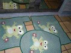 jogo de banheiro 3 peças em patchwork R$ 95,00