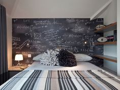 Chalkboard Wall - A chalkboard wall for a teen is a perfect way to customize a room