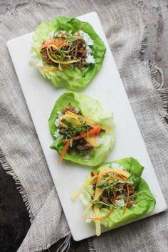 Asian Lettuce Wraps Recipe from Oh MY Veggies, a Vegetarian Food Blog - A fully vegetarian lettuce wrap that's not only healthy but will delight anyone with the wonderful bursts of flavor, lightness, and fresh ingredients! For the complete recipe, simply click on the photo. ENJOY!