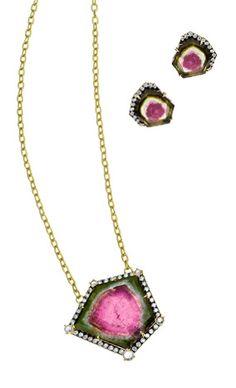 Jemma Wynne earrings and necklace