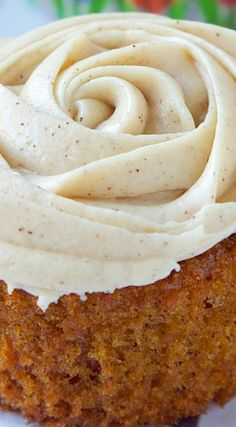 Carrot Cupcakes w/ Cream Cheese Brown Sugar Frosting
