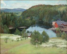 Pekka Halonen, View of Myllykylän