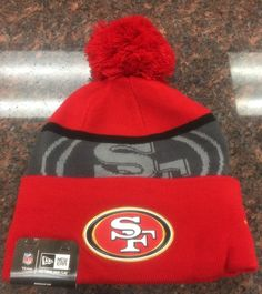 1c8bc4e86 men hat NFL San Francisco 49ers NFL ON-FIELD SPORT KNIT New Era Cuffed Pom