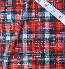 'Grunge the Lumberjack by Su_G': Polyester Crepe de Chine swatch printed by Spoonflower. © Su Schaefer 2015