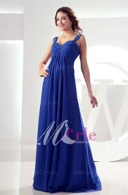 Blue shiffon dress