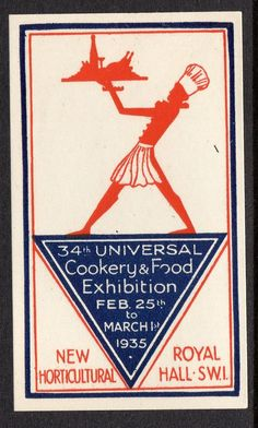 Great Britain 1935 Cookery & Food Exhibition poster stamp  | eBay