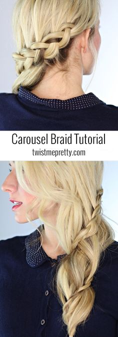 A beautiful carousel braid tutorial-- such a gorgeous style for a wedding or prom | Twist Me Pretty