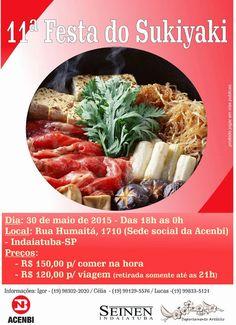 SOCIAIS CULTURAIS E ETC.  BOANERGES GONÇALVES: ACENBI Indaiatuba promove Festa do Sukiyaki no pro...