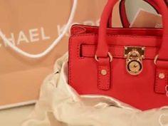 Michael Kors handbag mini hamilton حقائب مايكل كورس ميني هاملتون - YouTube ; MK's bags ; women ,
