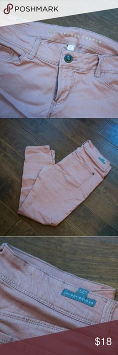 Lauren Conrad Skinny Jeans Peach in color, great condition LC Lauren Conrad Jeans Skinny