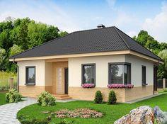 Одноэтажный дом из пеноблоков. Проект Палермо архитектурного бюро ЛесДомстрой