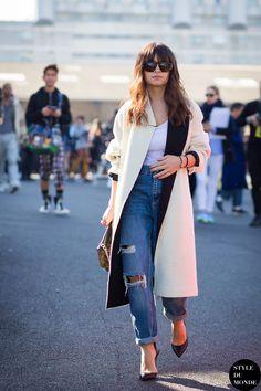 Paris Fashion Week FW 2015 Street Style: Miroslava Duma