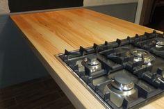 Keukenblad/kookeiland gemaakt van Douglas #hout