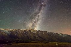 The Milky Way rises above The Remarkables mountains in New Zealand [OC] [49283264] #reddit