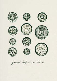Coins (found objects) limited edition print