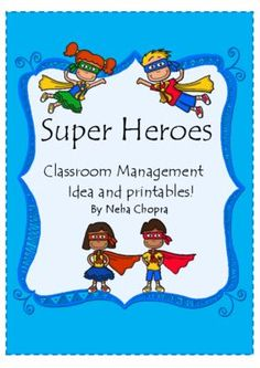 Super Hero Classroom Management Idea from Spoonfuls of kindergarten on TeachersNotebook.com -  (9 pages)  - Get your kids to listen to you without saying Shhhh! with this superhero classroom management strategy.