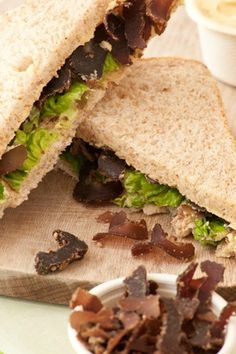 Ina Paarman's Biltong Sandwiches with Beefy Butter