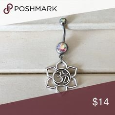 Om Flower Lotus Boho Belly Button Ring Condition: Brand New Metal : Surgical Steel  Size: 14 Gauge   If you have any questions please leave a comment down below.  Reasonable offers  accepted  I do not trade .   -Belly Button Ring Navel Piercing 14G Surgical Steel Body Jewelry New- Jewelry Rings