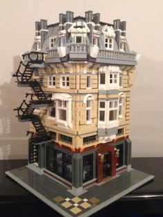 Custom Lego Modular Building Instructions 004 Apartment Bar 10243 10185 10182   eBay